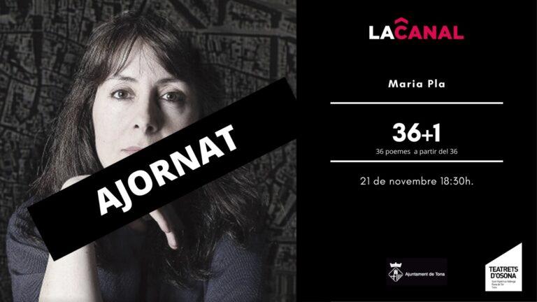 36+1 amb Maria Pla – AJORNAT!!
